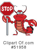 Lobster Clipart #51958 by Dennis Holmes Designs