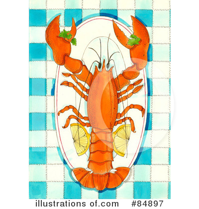 Lobster Clipart #84897 by Maria Bell