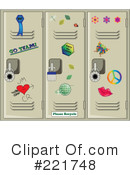 Royalty-Free (RF) Lockers Clipart Illustration #221748