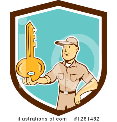Locksmith Clipart #1281482 by patrimonio