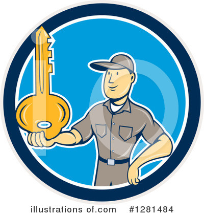 Locksmith Clipart #1281484 by patrimonio