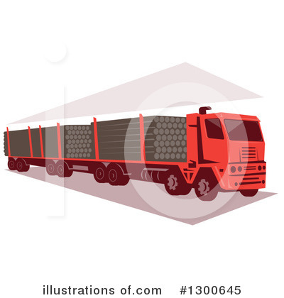 Trucking Clipart #1300645 by patrimonio