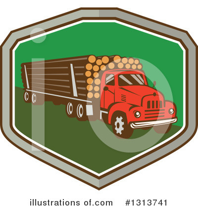 Trucking Clipart #1313741 by patrimonio