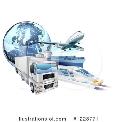 Logistics Clipart #1228771 by AtStockIllustration