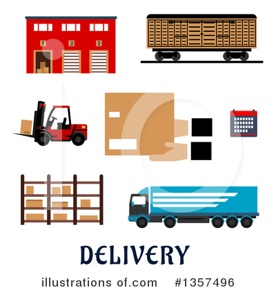 Truck Clipart #1357496 by Vector Tradition SM