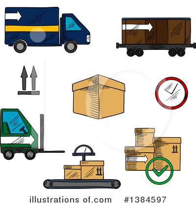 Truck Clipart #1384597 by Vector Tradition SM