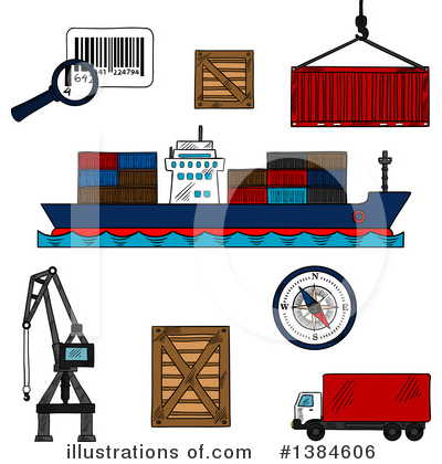 Ship Clipart #1384606 by Vector Tradition SM