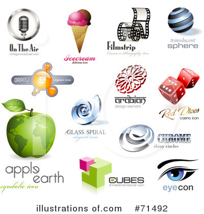 Royalty-Free (RF) Logos Clipart Illustration by Anja Kaiser - Stock Sample #71492