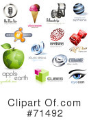 Royalty-Free (RF) Logos Clipart Illustration #71492