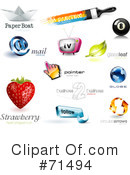 Royalty-Free (RF) Logos Clipart Illustration #71494