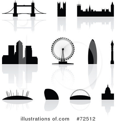 London Skyline Clipart #72512 by cidepix