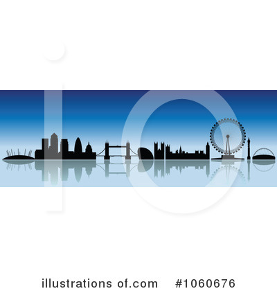 London Skyline Clipart #1060676 by cidepix