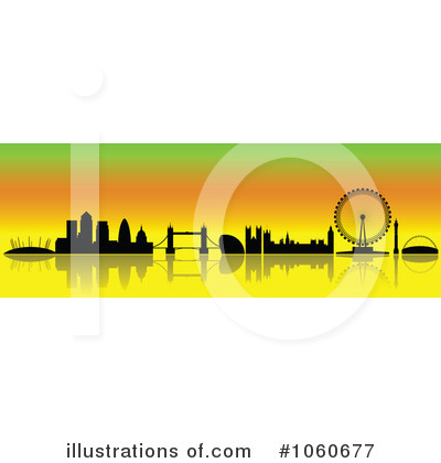 London Skyline Clipart #1060677 by cidepix