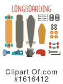 Longboard Clipart #1616412 by BNP Design Studio