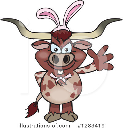 Cow Clipart #1283419 by Dennis Holmes Designs