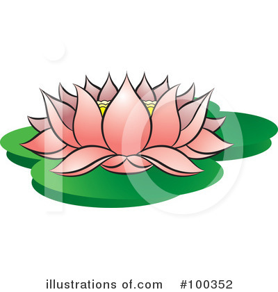 Royalty-Free (RF) Lotus Clipart Illustration by Lal Perera - Stock Sample #100352