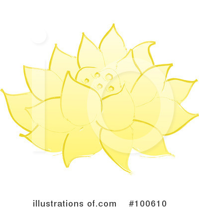 Lotus Flower Clipart #100610 by Pams Clipart