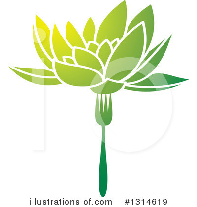 Lotus Clipart #1314619 by Lal Perera