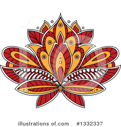 Lotus Clipart #1332337 by Vector Tradition SM