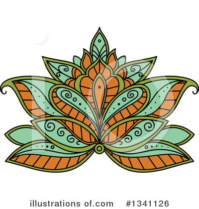 Lotus Clipart #1341126 by Vector Tradition SM