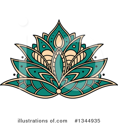 Royalty-Free (RF) Lotus Clipart Illustration by Vector Tradition SM - Stock Sample #1344935