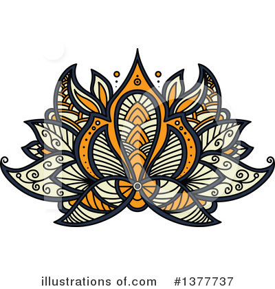 Lotus Clipart #1377737 by Vector Tradition SM