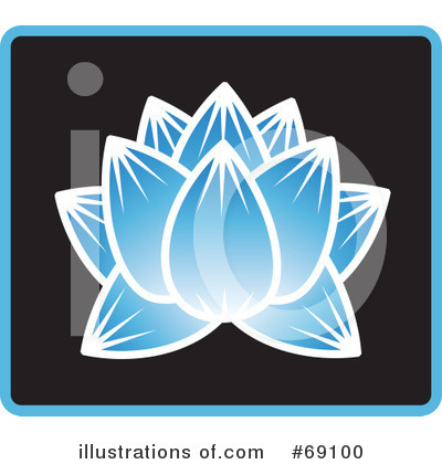 Royalty-Free (RF) Lotus Flower Clipart Illustration by Rosie Piter - Stock Sample #69100