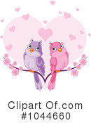 Royalty-Free (RF) Love Birds Clipart Illustration #1044660
