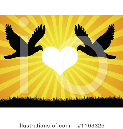 Love Birds Picture on Love Birds Clipart  1103325 By Andrei Marincas   Royalty Free  Rf