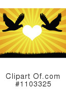 Royalty-Free (RF) Love Birds Clipart Illustration #1103325