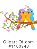 Royalty-Free (RF) love birds Clipart Illustration #1160948
