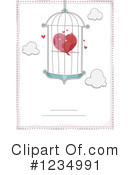 Royalty-Free (RF) Love Birds Clipart Illustration #1234991