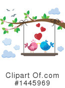 Royalty-Free (RF) Love Birds Clipart Illustration #1445969