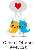 Royalty-Free (RF) Love Birds Clipart Illustration #443820
