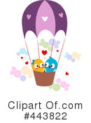 Royalty-Free (RF) love birds Clipart Illustration #443822