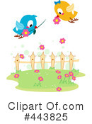 Royalty-Free (RF) Love Birds Clipart Illustration #443825