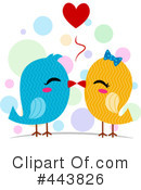 Royalty-Free (RF) love birds Clipart Illustration #443826