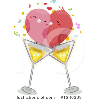 Royalty-Free (RF) Lovebirds Clipart Illustration by BNP Design Studio - Stock Sample #1246239