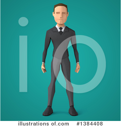 White Businessman Clipart #1384408 by Julos