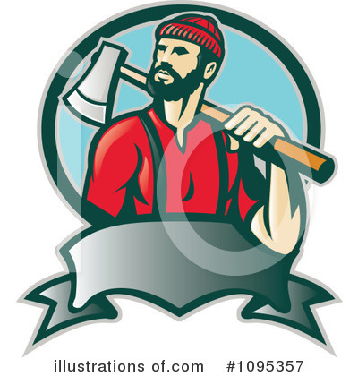 Lumberjack Clipart #1095357 - Illustration by patrimonio