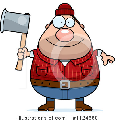 Lumberjack Clipart #1124660 by Cory Thoman