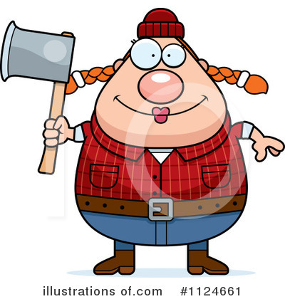 Lumberjack Clipart #1124661 by Cory Thoman