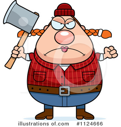 Lumberjack Clipart #1124666 - Illustration by Cory Thoman