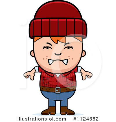 Lumberjack Clipart #1124682 by Cory Thoman