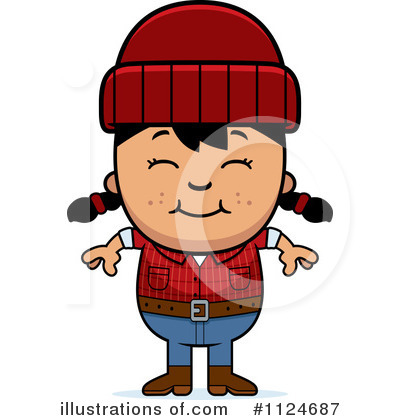 Lumberjack Clipart #1124687 by Cory Thoman