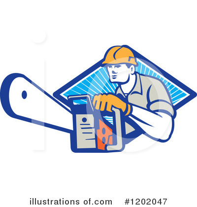 Royalty-Free (RF) Lumberjack Clipart Illustration by patrimonio - Stock Sample #1202047