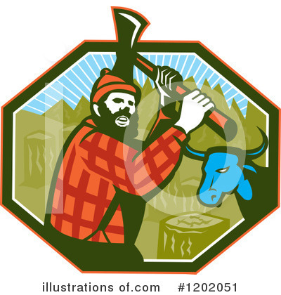 Royalty-Free (RF) Lumberjack Clipart Illustration by patrimonio - Stock Sample #1202051
