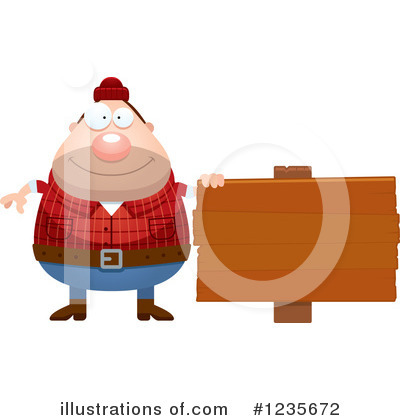 Lumberjack Clipart #1235672 by Cory Thoman