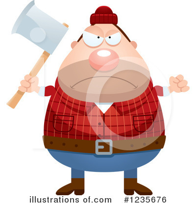 Lumberjack Clipart #1235676 by Cory Thoman
