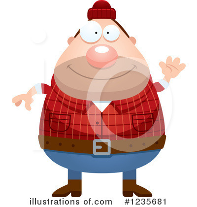 Lumberjack Clipart #1235681 by Cory Thoman